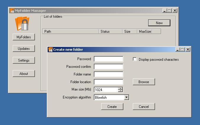 Скачать программе для установки паролей на папках