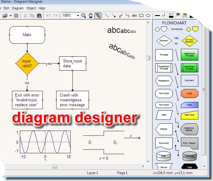 создания схем и диаграм