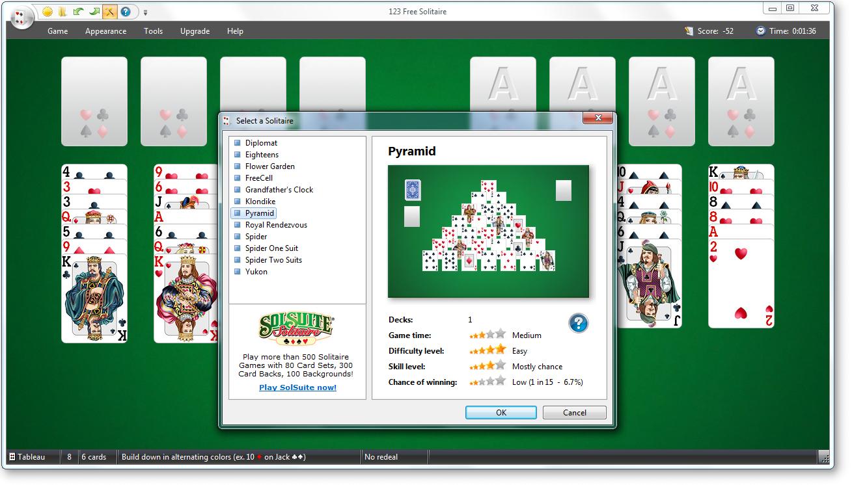 Скачать бесплатно карточную игру косынка на компьютер